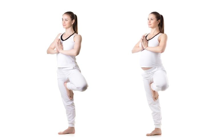 Prenatal Yoga, Vriksasana pose