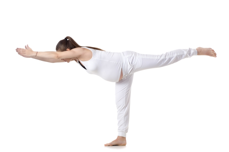 Prenatal Yoga, Warrior III pose